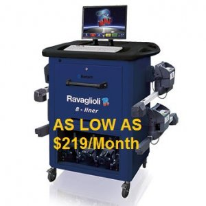 Ravaglioli's 8-Liner Wheel Alignment System